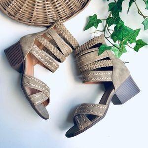 maurices erin gladiator zip up sandal